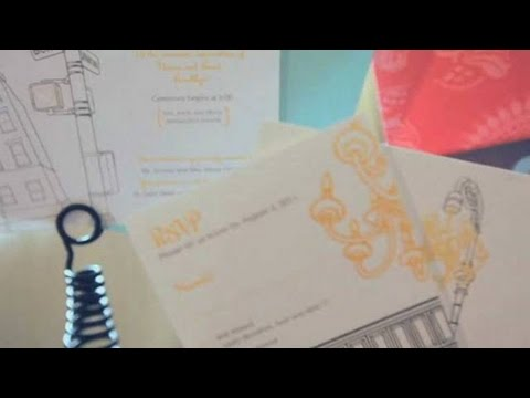 How to Incorporate Color | Wedding Invites