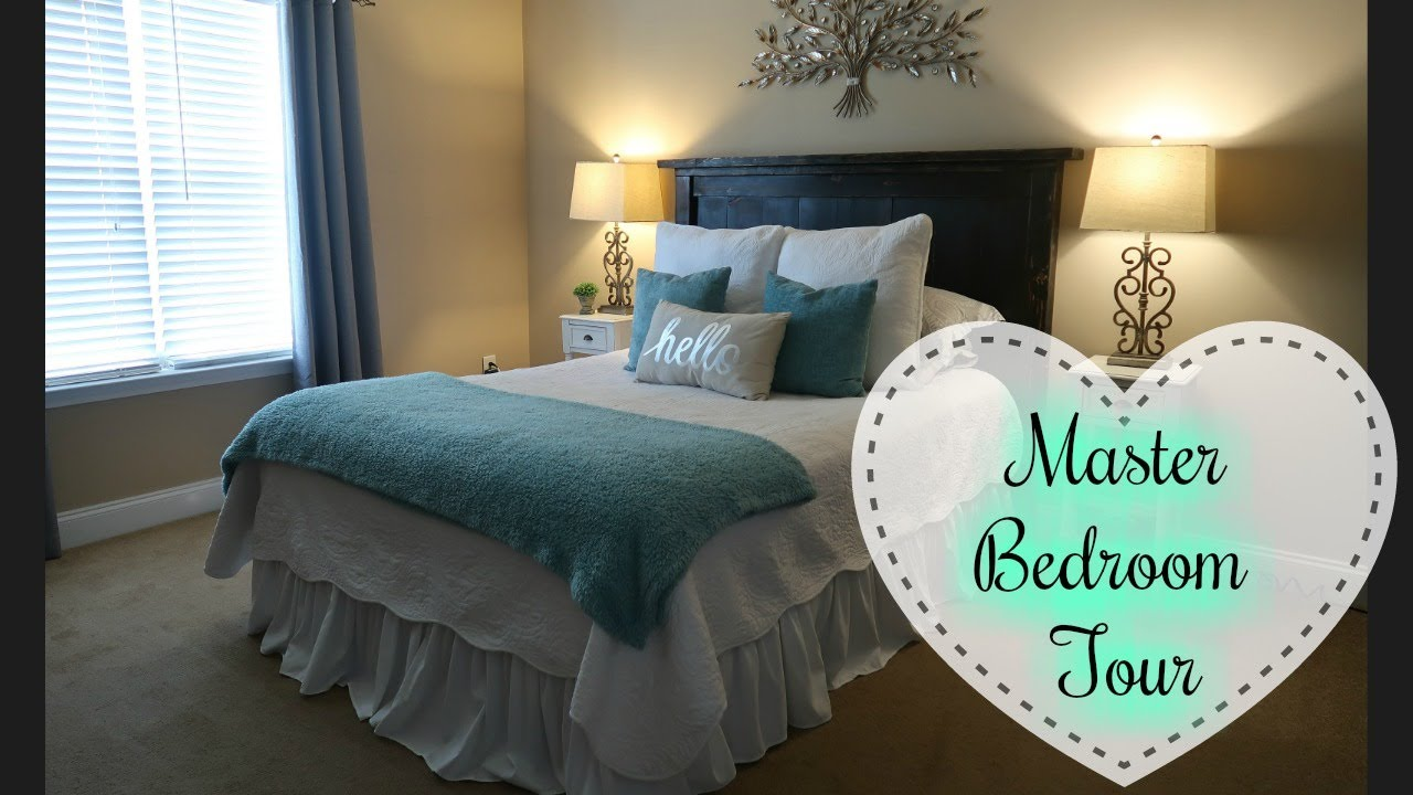 HOUSE TOUR PART 1   MASTER BEDROOM | RUSTIC GLAM DECOR
