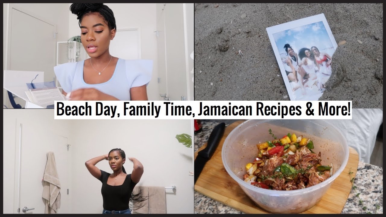 Weekly Vlog | Beach Day,Family Time, Making Brown Stew Chicken & More!