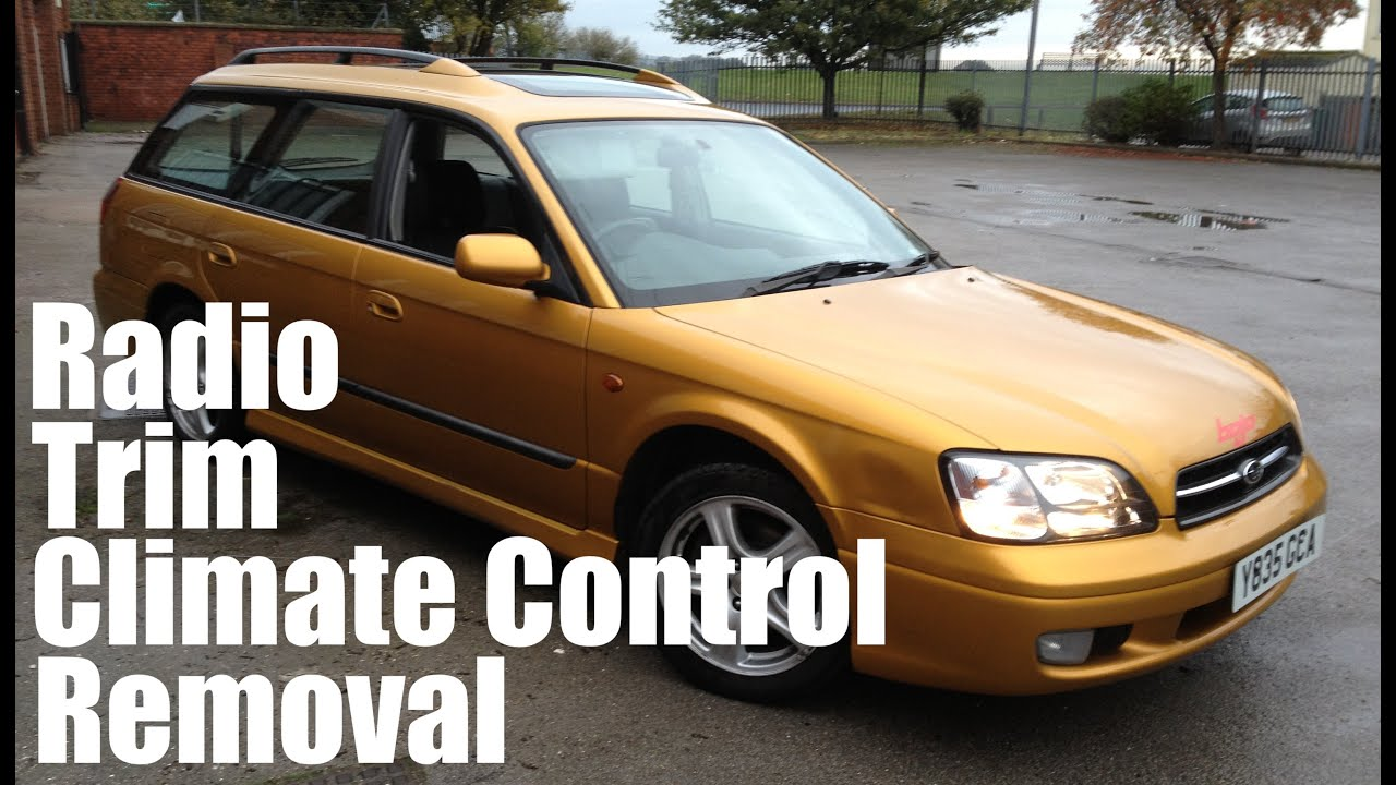 subaru legacy how to remove dashboard trim fascia radio climate control 3rd gen mk3 bojo tools [ 1280 x 720 Pixel ]