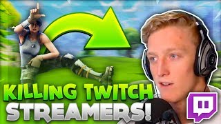 Killing big Twitch Streamers in Fortnite with their Reactions! ( Faze Tfue, TSM Daequan & More )!