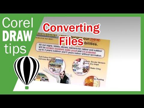 Converting file to PDF in CorelDraw