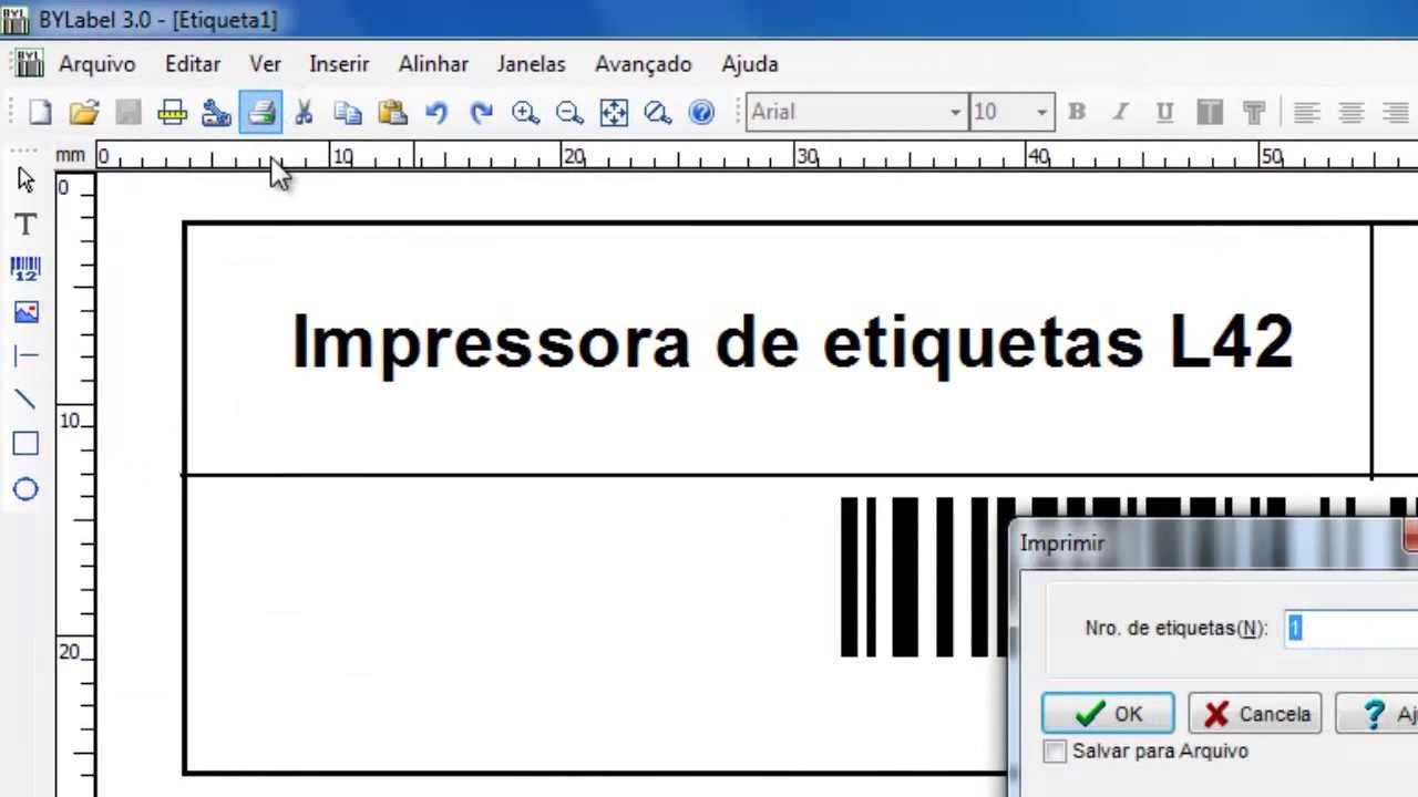 Impressora Elgin L42 Como Criar Uma Etiqueta Com
