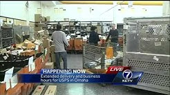 Extended delivery, business hours for USPS in Omaha