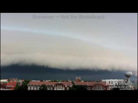 University of Oklahoma, Norman Shelf Cloud, 7/29/16