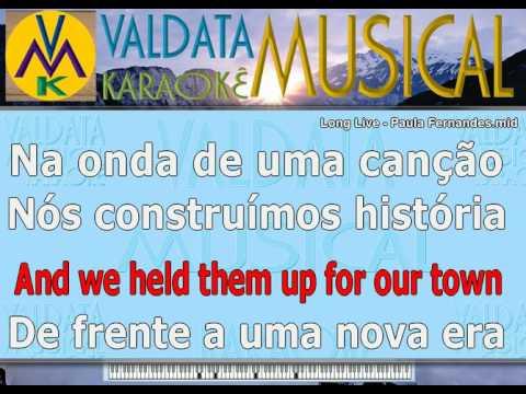 Long Live   Paula Fernandes   karaoke