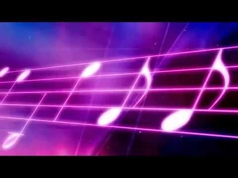 Neon Music Staff Motion Background