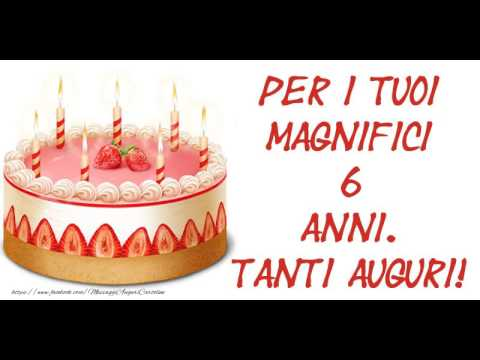 Auguri Di Buon Compleanno 6 Anni.Happy Birthday 6 Anni Happy Birthday Piano Cartoline