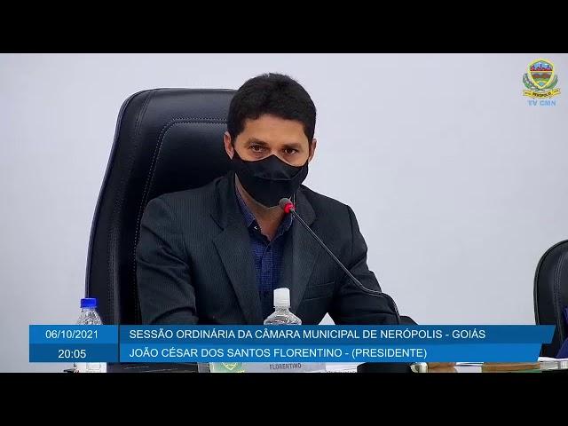 Sessão da Câmara Municipal de Nerópolis 06/10/2021