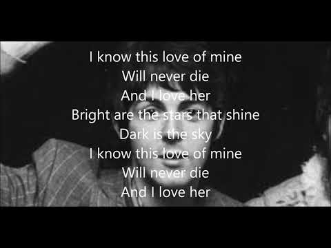 And I love her with lyrics(Paul McCartney)