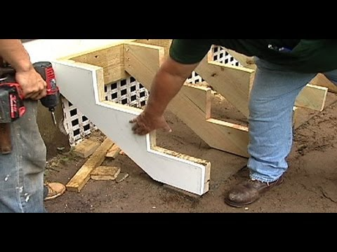 How To Add Stairs To Your Outdoor Deck Ask John The Builder | Prefab Stairs Outdoor Home Depot | Precast Concrete Steps | Patio | Wrought Iron | Porch | Stair Riser