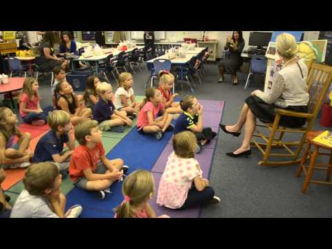 Florida First  Lady Ann Scott reads to 1st graders at Ketterlinus Elementary School