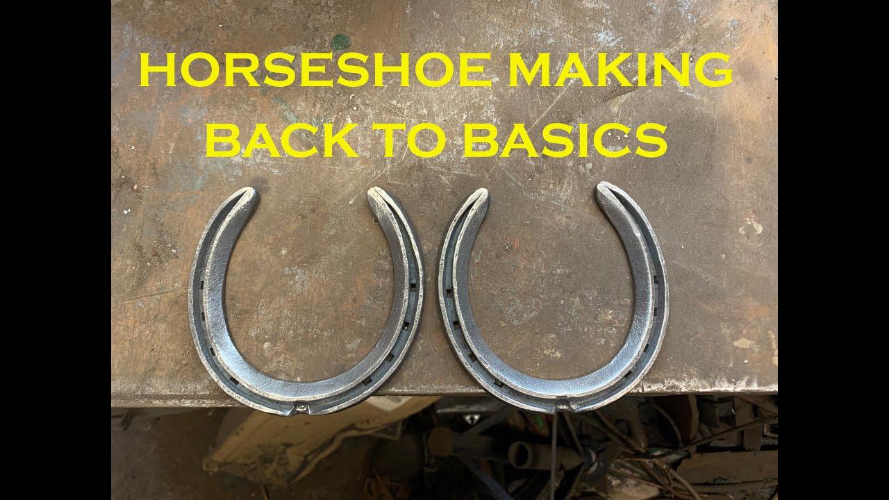 Horseshoe making, back to basics.
