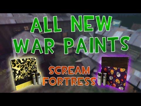 ALL NEW SCREAM FORTRESS 2018 WAR PAINTS