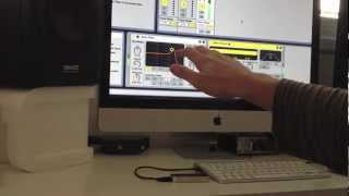 Controlling Ableton Live with Sonic Logic for Mac and Leap Motion Controller.