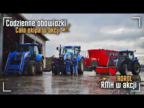 Codzienne Obowiązki ✔ RMH ☆ Cała Ekipa W Akcji ✔ Karmienie Krów & Produkcja Mleka ☆ ADROL ☆