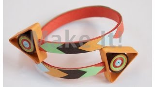 How to Make Quilled - Let's Go Thataway Paper Bracelet - Modern Quilling  #2