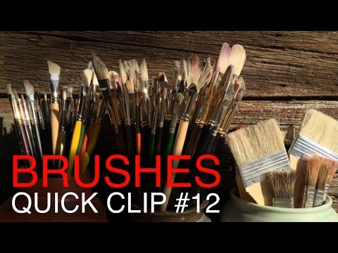 The BEST brushes for Oil Painting, and how to clean them!