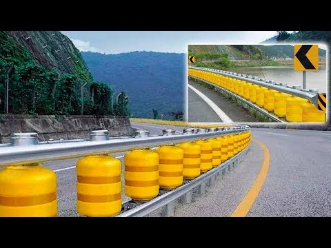 Safety Barrier roller | Crash test: Safety Roller Barrier System | New Technologies