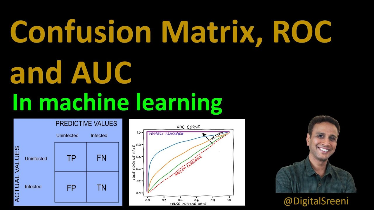 Confusion matrix,  ROC and AUC in Machine Learning