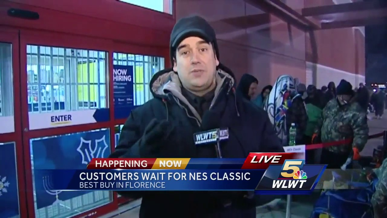 Shoppers line up for NES Classic at Florence Best Buy