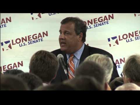 Governor Chris Christie Endorses Steve Lonegan for U.S. Senate