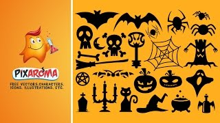 Free Halloween Vector Shapes Set - Illustrator and Photoshop Tutorial