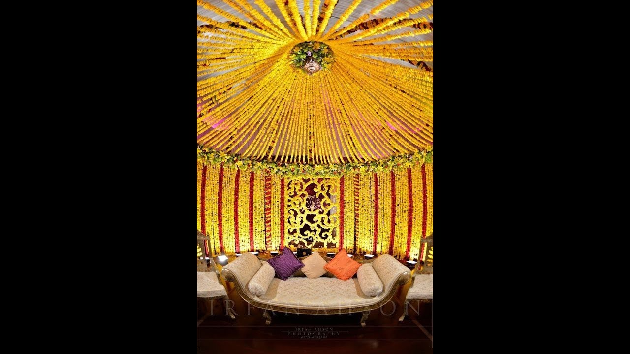 Pakistani Mehndi Stage Decoration Ideas Colourful Stages Youtube