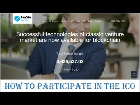 FINSHI CAPITAL - HOW TO PARTICIPATE IN THE ICO