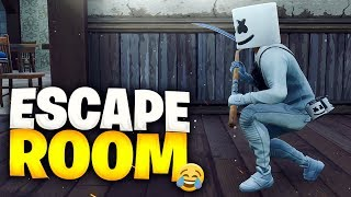 *ESCAPE ROOM CODE* ESCAPE THE TROLL HOUSE AT FORTNITE BATTLE ROYALE!