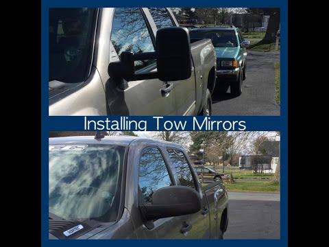 Installing Tow Mirrors On A 07 13 Chevy Silverado Youtube