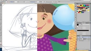 "Drawing ""Cool Summer"". Adobe Illustrator"