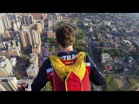 Travis Pastrana's Huge BASE Jump