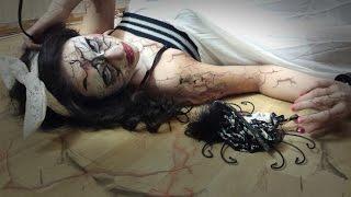 Horror Doll - Scary Halloween Make Up Tutorial - Sina Ha Make Up Thumbnail
