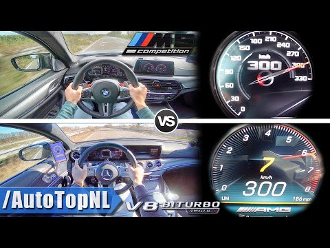 BMW M5 Competition 625HP vs 639HP AMG GT 63S 4 Door | ACCELERATION SOUND & AUTOBAHN POV by AutoTopNL