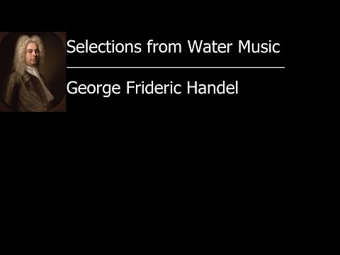 Selections from Water Music Suite - George Frideric Handel [Vinyl Rip]