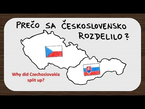 the main cause in the split of the czech and slovak republic in 1993