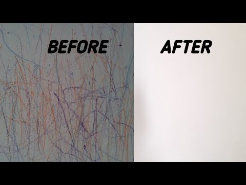 How to clean crayon marks on wall.