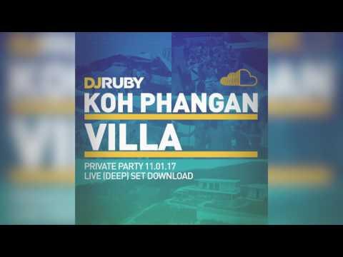 DJ Ruby Live @ Private Villa Party, Koh Phangan, Thailand, 11-01-17
