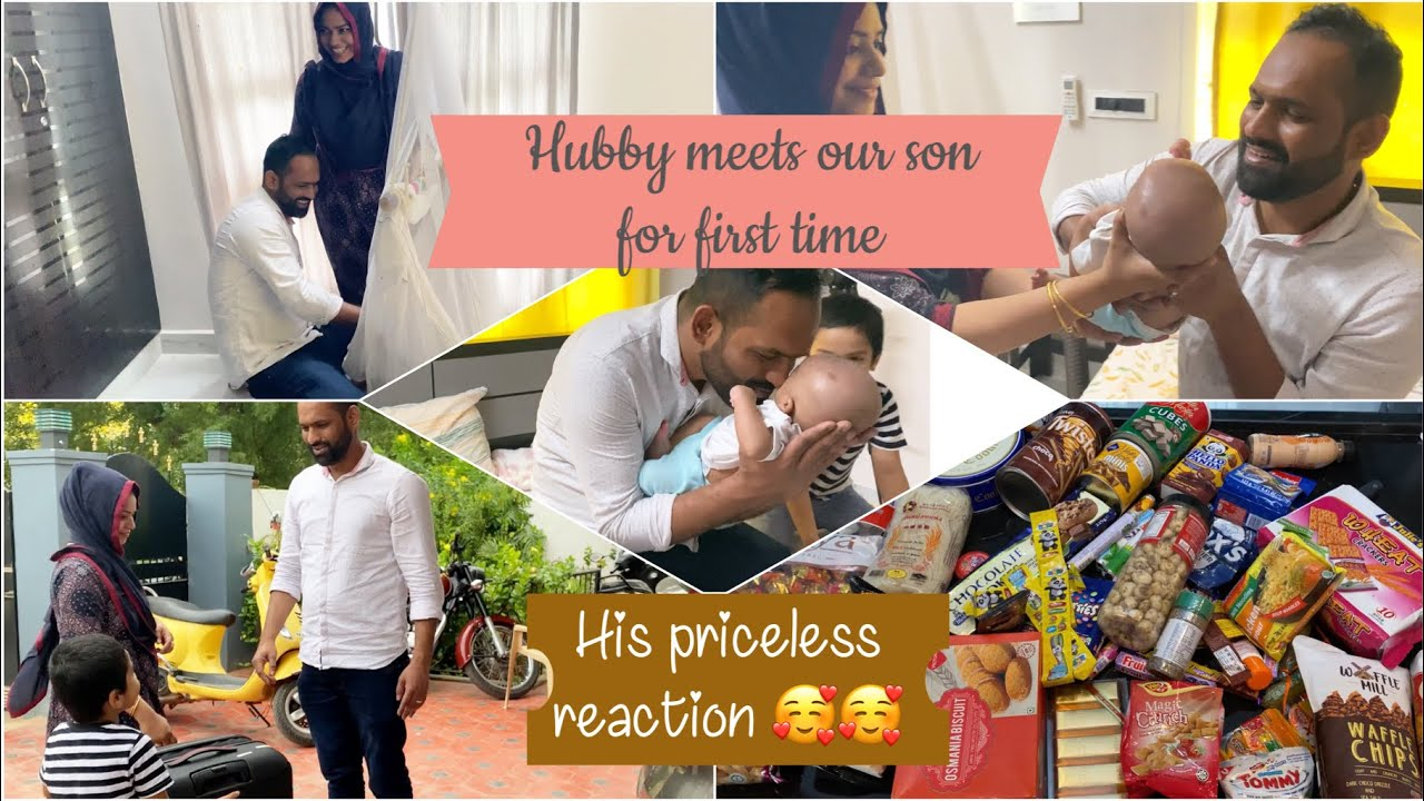 Hubby meets our Baby for first time 🥰🥰/ zulfia's recipes