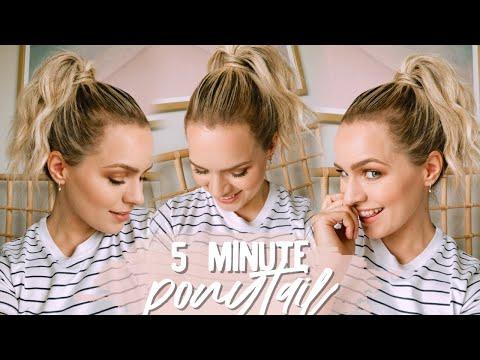 my-5-minute-ponytail-routine-(short-hair)---kayleymelissa