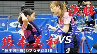 Miwa Harimoto 張本美和 vs 竹谷美涼 | カブ女子 決勝 | 全日本選手権2018 thumbnail