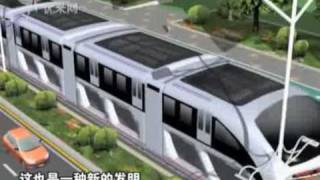 China Plans Hugh Buses That Can Drive Over Cars