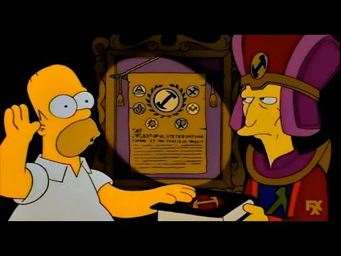 The Simpsons: Homer joins a secret Society