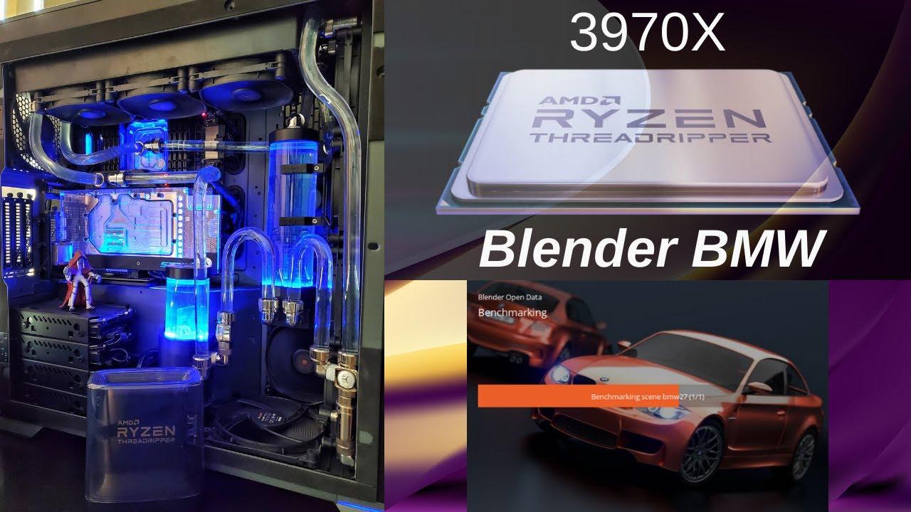 AMD Threadripper 3970X – Blender BMW Render