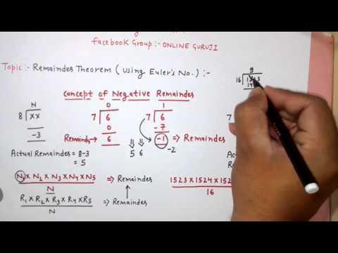 SSC CGL Number System Part 4 (Remainder Concept - 1 )