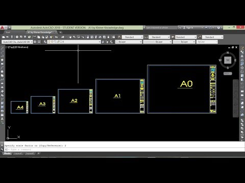 Page setup in AutoCAD ( A0, A1, A2, A3, A4) by Khmer Knowledge