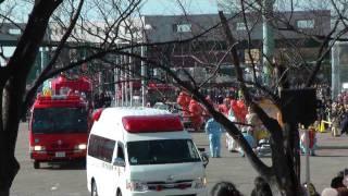 2012 大阪市消防出初め式 Part 5 救出訓練~一斉放水