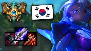 The NEW CHALLENGER KOREAN ASHE BUILD BLADE CLEAVER RUNAANS League of Legends