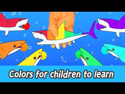 [EN] Colors for children to learn with sharks and whales! animals animation for kidsㅣCoCosToy